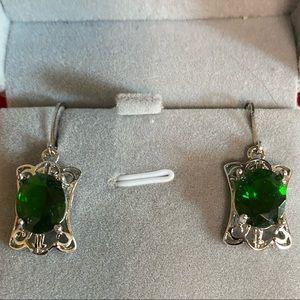 Emerald Leverback Earrings
